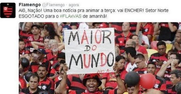 Torcida do Flamengo esgota ingressos na Copa do Brasil