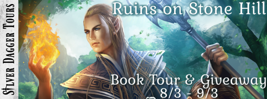Book Tour Banner for the epic fantasy Ruins on Stone Hill from the Heroes of Ravenford series by F.P. Spirit with a Book Tour Giveaway