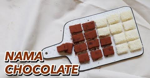 Bố Cam làm Nama Chocolate vị Caramel và vị Dừa Vlog 76