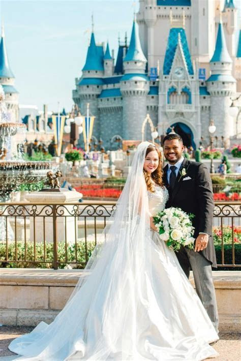 """Lucky Couple Says """"I Do"""" in Front of Cinderella Castle"""