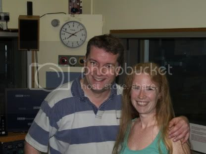 Becky With Graham Rogers at BBC Wiltshire