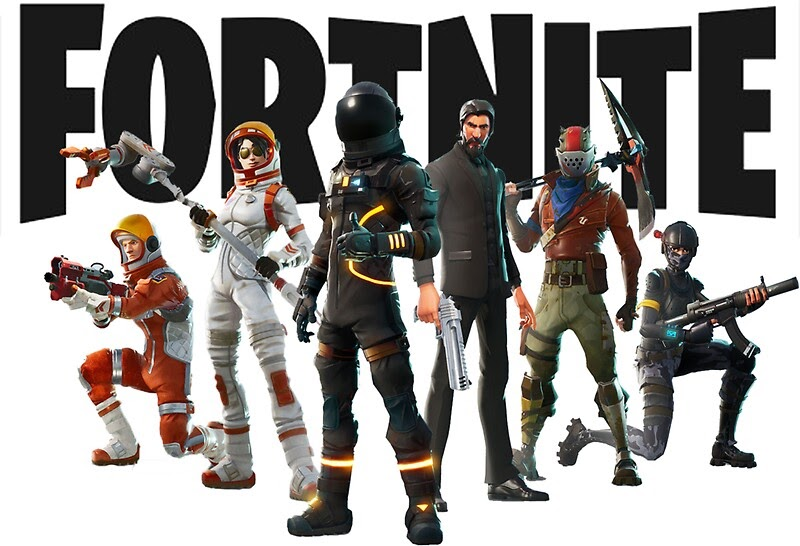 U0026quot Fortnite Logo And Characters Tshirt U0026quot