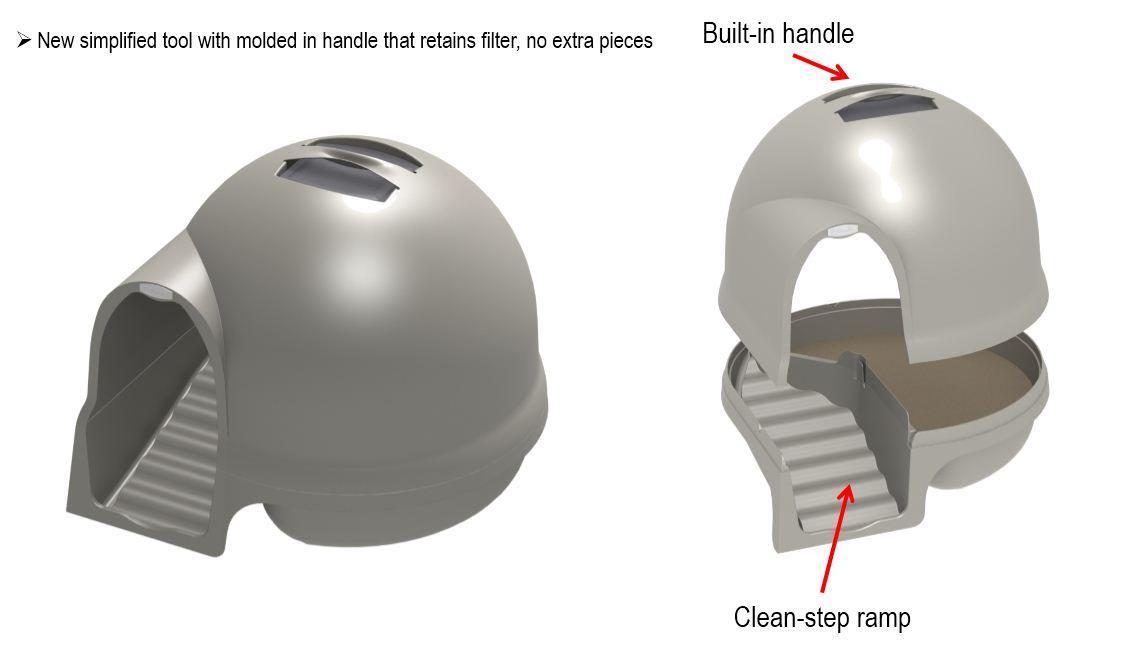 Amazon.com : Booda Dome Cleanstep Cat Box, Titanium : Litter Boxes ...