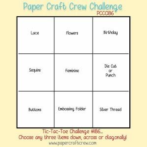 Paper Craft Crew Tic-Tac-Toe Challenge 186 #papercraftcrew #tictactoe #challengeblog
