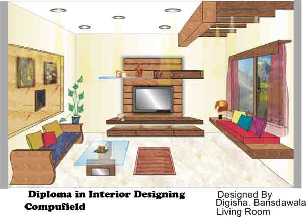 online web courses| diploma in designing| home décor| living room