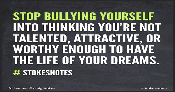Image result for stop bullying yourself meme