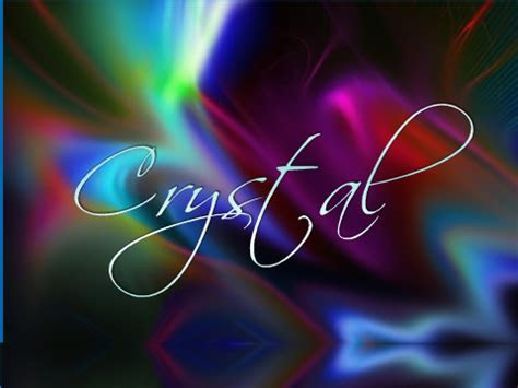 Download Crystal Name Wallpaper Gallery