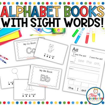kindergarten sight word readers.  Alphabet books for kindergarten