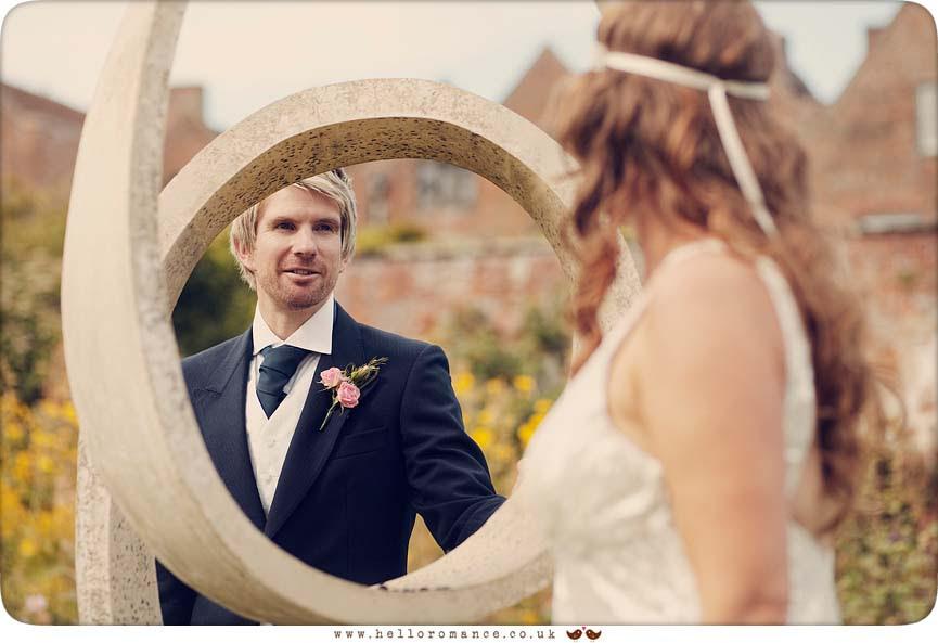Glemham Hall, Sculpture, Vintage Garden, Glemham Hall Wedding Photography Suffolk - Hello Romance