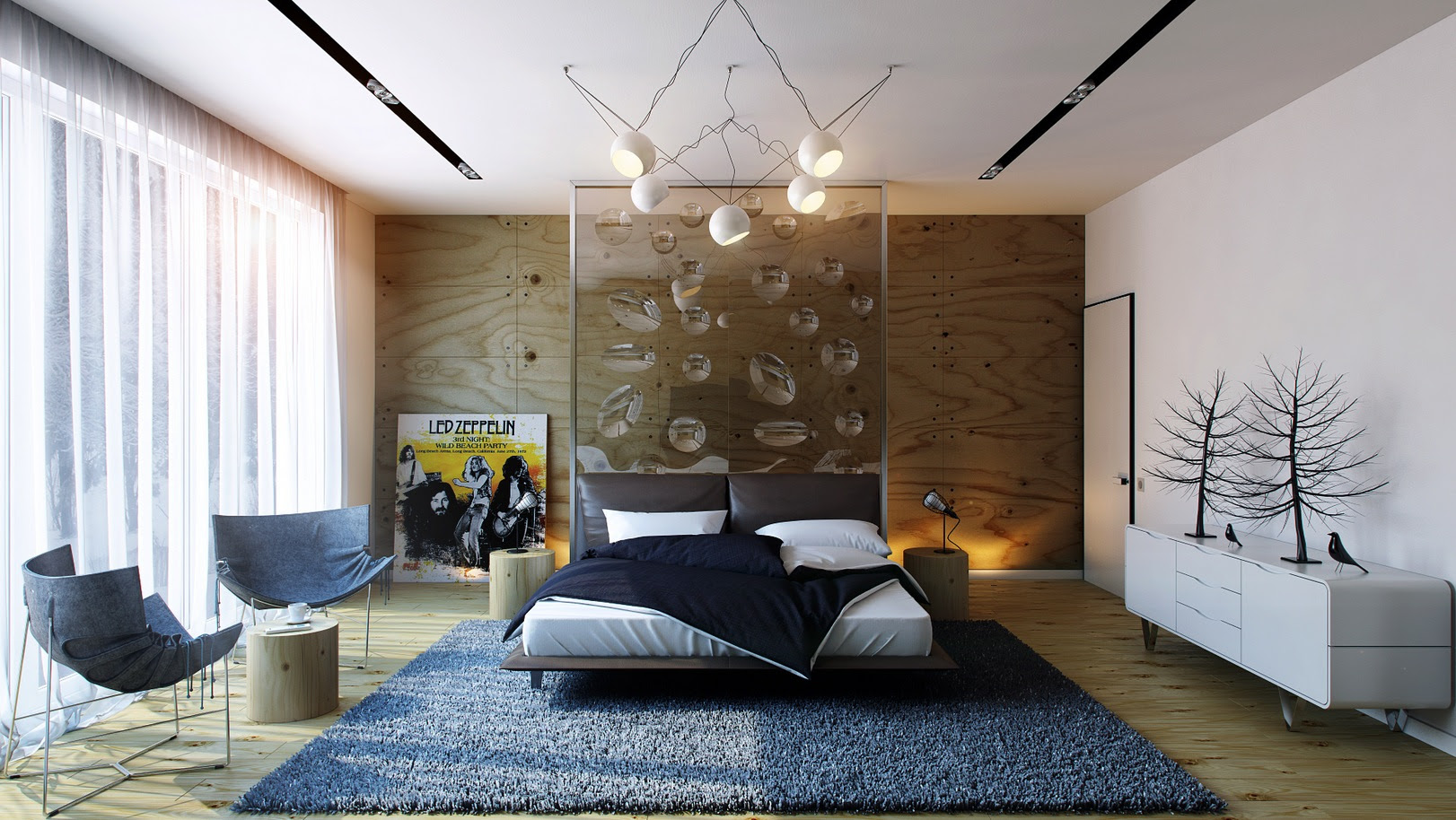 modern wall design ideas for bedroom