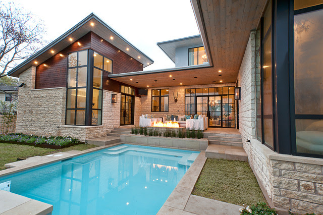 House Plans with Pools, Outdoor Sitting and Beautiful Garden  Ideas 4 Homes