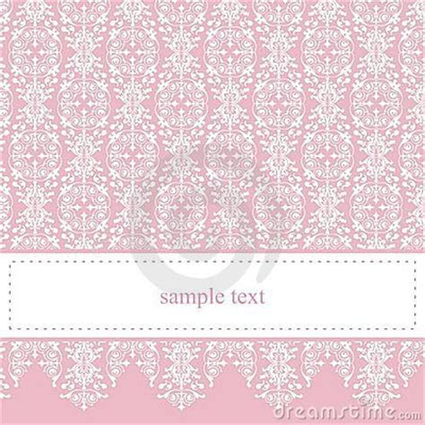 Sweet, Elegant Pink Lace Vector Card Or Invitation Royalty