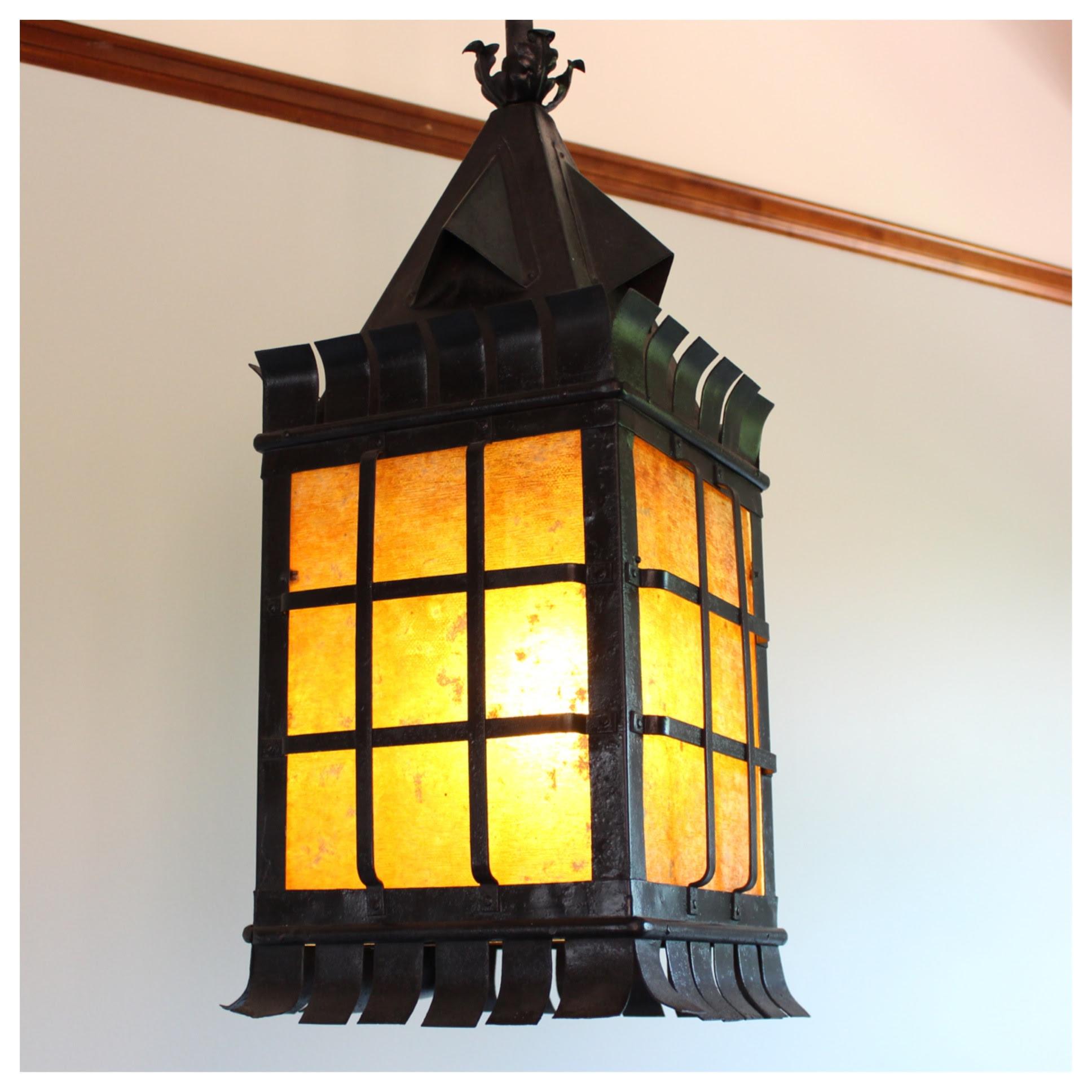 A7252 Arts Crafts Lantern Pendant Bogart Bremmer Bradley Antiques