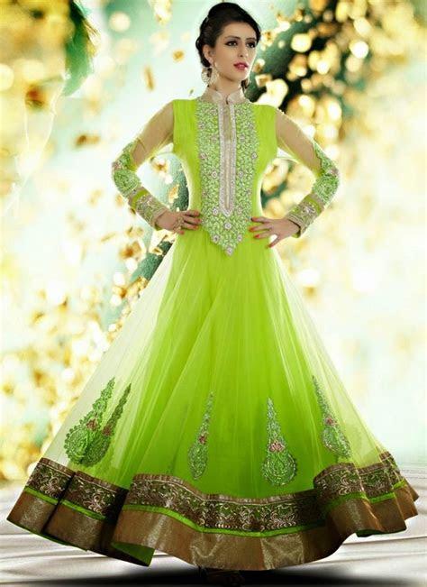 Indian Royal Wedding Bridal Wear Long Anarkali Fancy