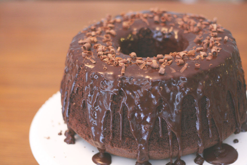 Chocolate Chiffon Cake - State Fair Recipe - Blue Ribbon Cake