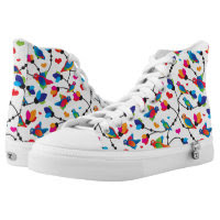 cute colorful parrot bird printed shoes