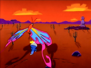 The butterfly in Homer's hallucination was cre...