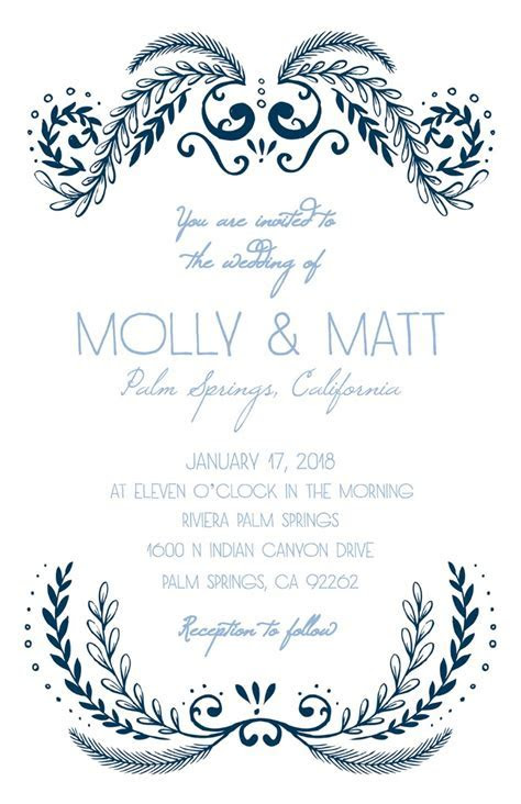 Print   Ornate Free Printable Wedding Invitation