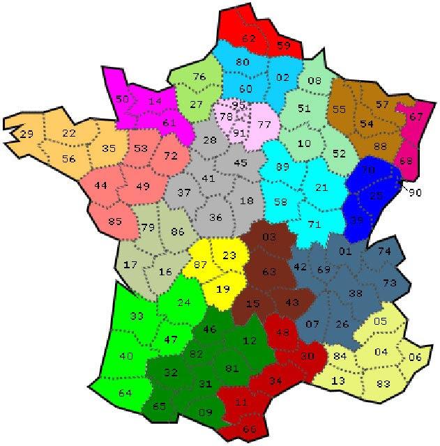 25 Belle Carte Avec Tous Les Departements De France