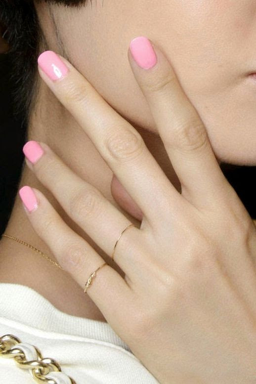 Le Fashion Blog 5 Bright Nail Colors To Try Now Custo Barcelona Bubblegum Pink Polish Threadbare Thin Dainty Rings photo Le-Fashion-Blog-5-Bright-Nail-Colors-To-Try-Now-Custo-Barcelona-Bubblegum-Pink-Polish.jpg
