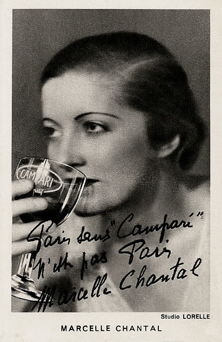 Marcelle Chantal, publicity for Campari