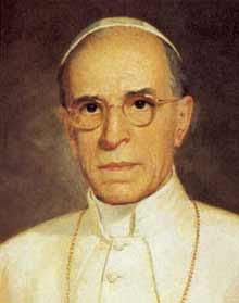 Znalezione obrazy dla zapytania papież pius XII