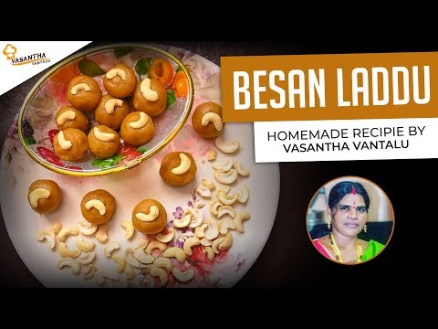 Besan Laddu in Telugu | Homemade Recipe | By Vasantha Vantalu