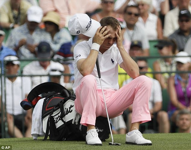 Justin Thomas had a lengthy wait on the 18th to try and equal the lowest score at US Open