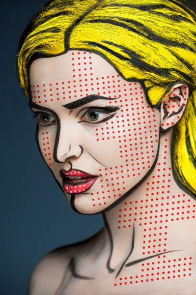 Amazing Makeup Work Changes People into 2D Prints
