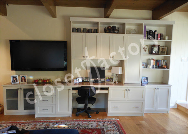 Wall unit with desk and entertainment - Eclectic - Home ...