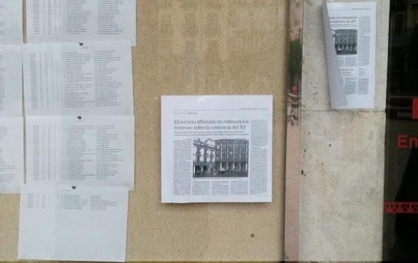 Pasquín colocado en el Tablón de Anuncios del Ayuntamiento de Burgos