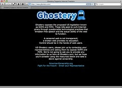 Ghostery has gone dark to protest SOPA