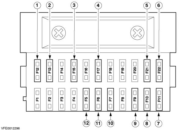 Circuit Electric For Guide  2007 Lincoln Mark Lt Fuse Box Diagram