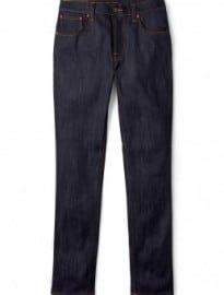 Nudie Jeans Thin Finn Dry Ecru Embo Skinny Jeans