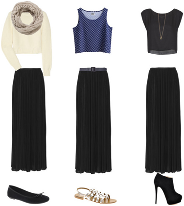 Fall Maxi Skirt Looks with Shoes