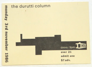 The Durutti Column live at I-Beam, San Francisco, 3 November 1986
