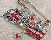 SALE London 2012 Kilt Pin Scarf Pin Charm Brooch Olympics KC1001