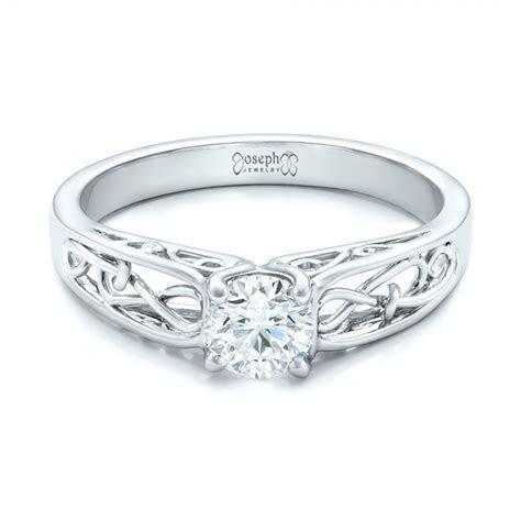 Custom Solitaire Diamond Engagement Ring #102074