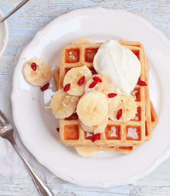 waffles, waffeln, goji, breakfast