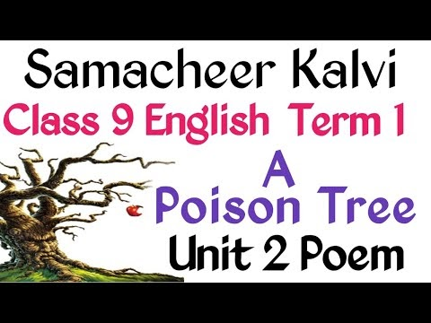 9th English A Poison Tree - Poem Kalvi TV