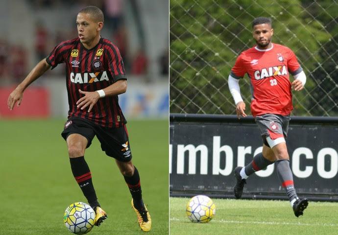 Marcos Guilherme, Léo, Atlético-PR (Foto: Arte: GloboEsporte.com)
