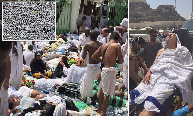 Muslim Hajj stampede near Mecca leaves 700 people crushed to death in Saudi Arabia