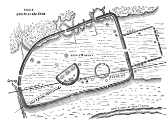 Plan showing arrangement of mounds