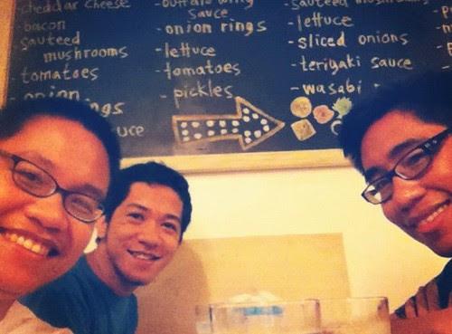 At Burger Project, Maginhawa Street, Teachers' Village, Quezon City