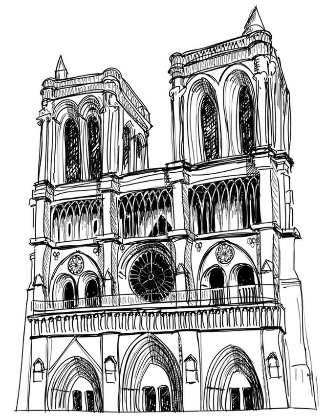 Coloriage Anti Stress Paris Notre Dame De Paris 4