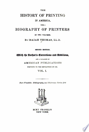 Read Online The History of Printing in America PDF