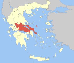 Locator Map of Sterea Ellada Periphery, Greece