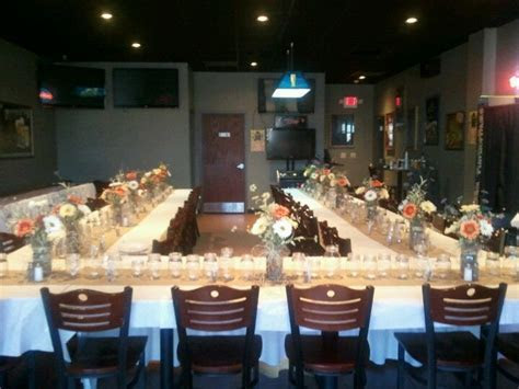 Rustic rehearsal dinner tables for my son's wedding