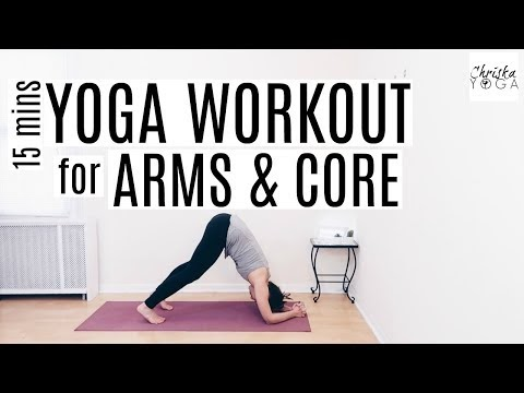 yoga workout for arms and core  15 minute yoga for weight