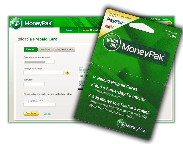 Load Prepaid Card From MoneyPak